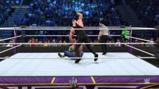WWE 2K15 Gameplay | Undertaker Vs. John Cena | No Holds Barred Match