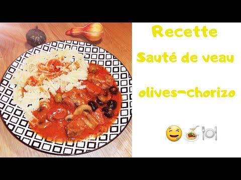 recette-cookéo---sauté-de-veau-aux-olives-et-chorizo