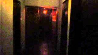 The Bowery House maze at night