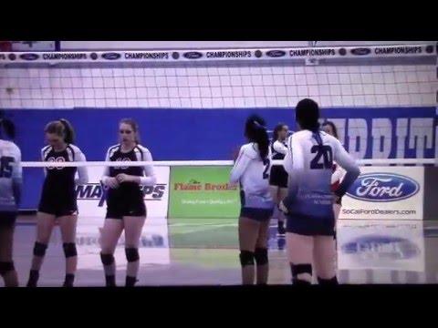 Brooke Madkin #15 (2018) Rightside/Setter Upland Christian Academy