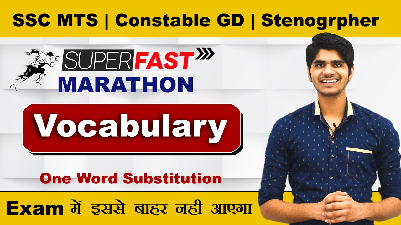 Most Important Vocabulary For SSC MTS, Constable GD, Steno 2021 | इन से बाहर कुछ नही आएगा |