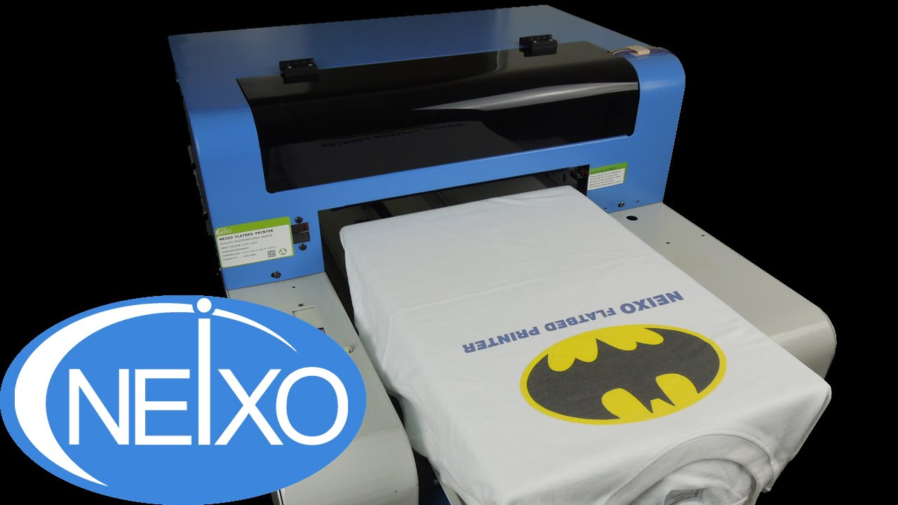 1d9785086 How to print on T shirt with inkjet DTG printer brief demo tutorials -  YouTube