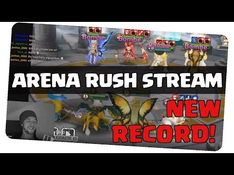 ARENA RUSH STREAM - NEW RECORD!