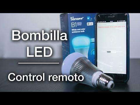 Bombilla LED Sonoff B1 | RGB con control remoto | Unboxing y review