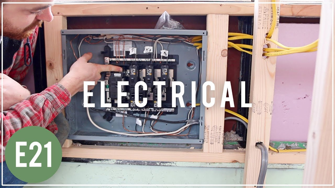 how to run 110volt electrical skoolie bus conversion e21 [ 1280 x 720 Pixel ]