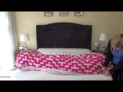 How to put on a quilt cover the easy way