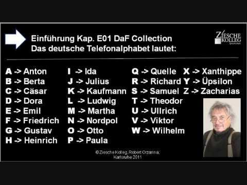 internationale alphabet buchstabieren