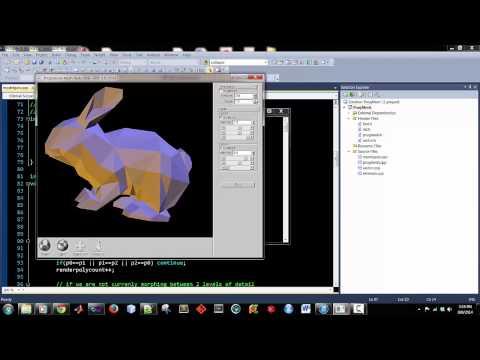 UI – Progressive Mesh Reduction – OpenGL