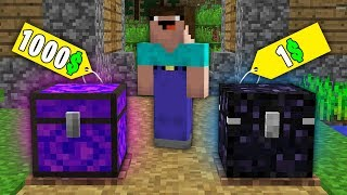 Minecraft NOOB vs PRONOOB BOUGHT PORTAL CHEST FOR 1000 VS OBSIDIAN CHEST FOR 1 100 trolling