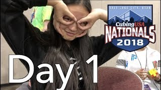 CubingUSA Nationals 2018 Competition VLOG! [Day 1]