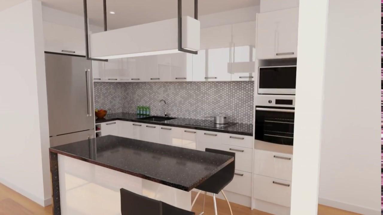 Euro High Gloss White - Contemporary Kitchen