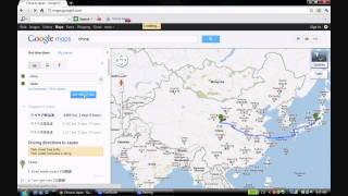 How Google Maps wants you to go from China to Japan: not a joke! Free HD Video