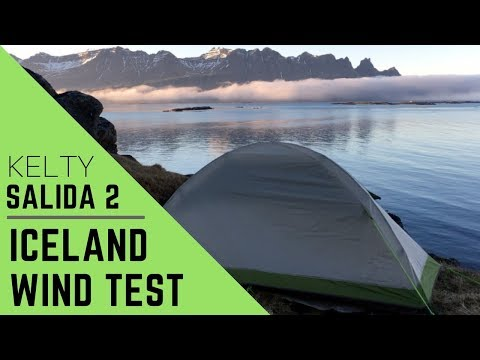 Backpacking Gear Kelty Salida 2 Tent Wind Test Iceland 30mph