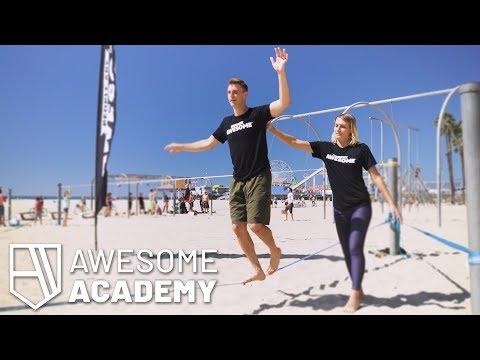 How-to Slackline | Feat. Olga Henry | Awesome Academy