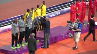Usain Bolt-led Jamaica 4×100-m relay new world record at London 2012