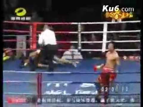 Shaolin Monk  KO Thai Boxing Champion Lamsongkram Chuwatana