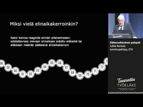 Eläkeuudistuksen palapeli, Jukka Rantala, toimitusjohtaja, ETK