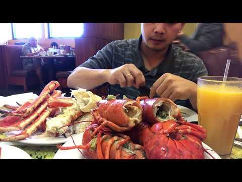 Ăn 10 con tôm Hùm, 1 đĩa cua Hoang đế ( Eating Lobsters and King crabs)