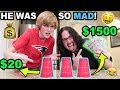 LOGAN LOST $1500 DOLLARS!! (THE CUP TRICK) (BACKFIRE)