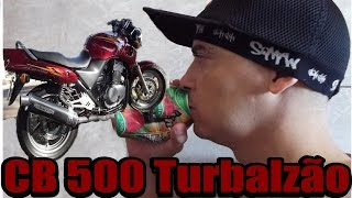 Imitando Moto CB 500 Turbalzão  2X1 Só o Cano Na Lata!