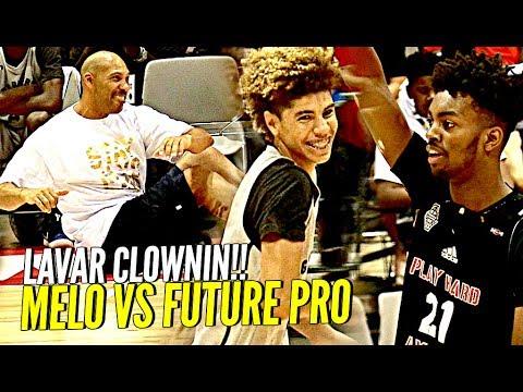LaMelo Ball TRIPLE DOUBLE vs Future NBA Pro Jordan Brown! LaVar CLOWNIN! BBB vs TOUGH Adidas Comp!
