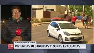 Incendios dejan viviendas destruidas y zonas evacuadas en la región Valparaíso