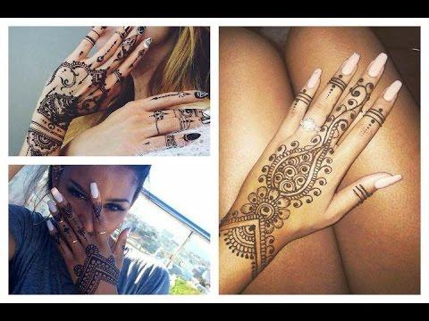 Tatuajes De Henna En Las Manos Distintos Dibujos Y Diseños Para