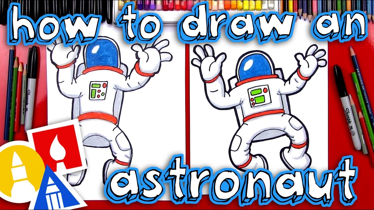 How To Draw An Astronaut - YouTube
