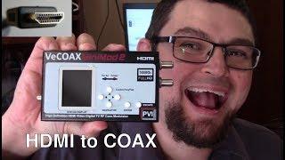 HDMI TO COAX CABLE - ATSC QAM RF MODULATOR - VECOAX MINIMOD-2