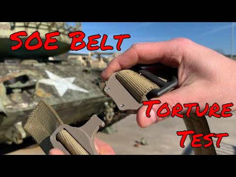Special Operations Equipment BELT TORTURE TEST! - YouTube