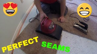 How to make an invisible seam in carpet