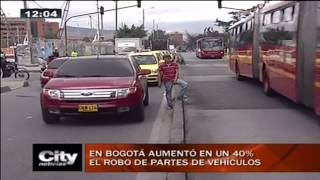 Citytv: En Bogotá aumentó en un un 40% el robo de partes de vehículos