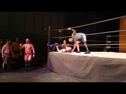 Sean Stewart vs Jason Static in the Actor vs. Wrestler match at Conquer Pro Wrestling