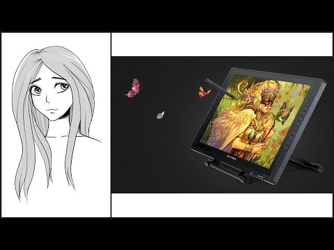 XP-Pen Artist 22E Drawing Tablet Display Review