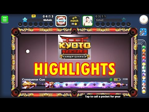 8 Ball Pool - KYOTO TEMPLE CHAMPIONSHIP HIGHLIGHTS (NEW CUES 2017) HD