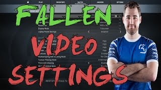 CSGO: SK FalleN video settings