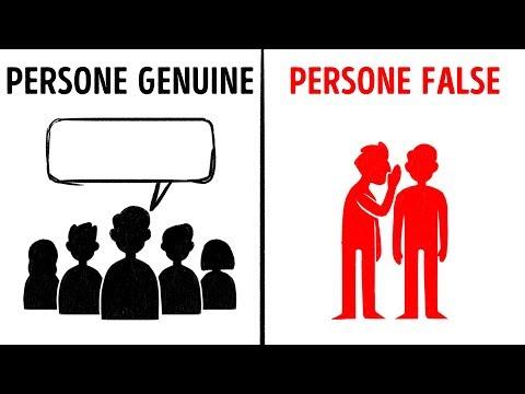 12 Segni Per Riconoscere Una Persona Falsa