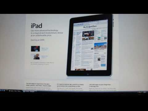 NEW Apple iPad! Released to the Press January 25, 2010