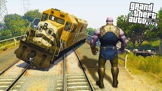 Thanos wykoleił POCIĄG w sekundę (GTA na modach) | THANOS MOD