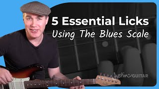 5 Classic Blues Licks Using The Blue Note - Lead Guitar - Lesson 11 - Essential Blues Guitar Lessons