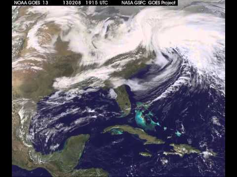 Nemo Snow Storm  incredible time laps view from space