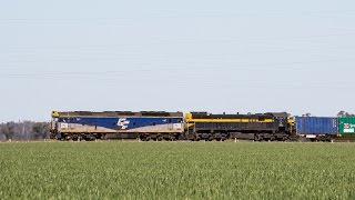 Deniliquin Rice Train with G512 & X31 - 22/9/14