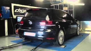VW golf 6 tdi 170cv @ 205cv reprogrammation moteur dyno digiservices