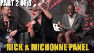 The Walking Dead Rick & Michonne Panel Part 2 of 3 Walker Stalker Atlanta 2017
