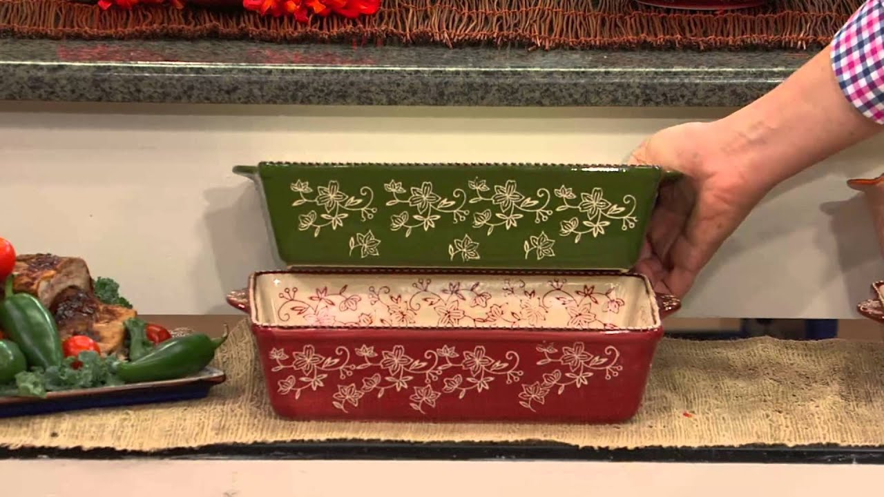 Temp-tations Floral Lace 24-piece Oven-to-Table Set with Alberti ...