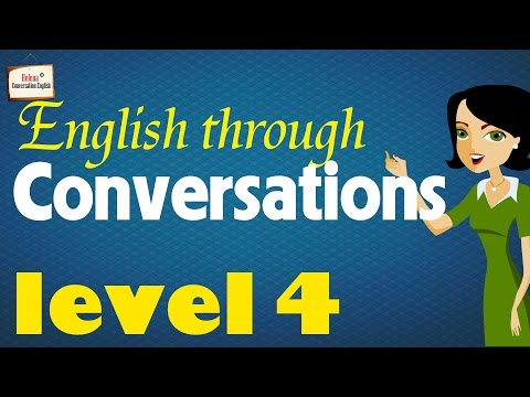 ►English Conversation Practice with subtitle: Beginner Level 4