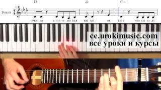 ce.urokimusic.ru Макс Корж - Пламенный Свет - как играть. Уроки фортепиано для начинающих онлайн