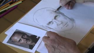 Leer Tekenen Online - Portret tekenen - zwart wit