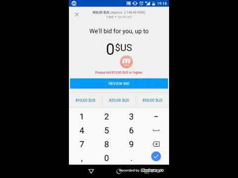 How to place bid on eBay from phone app
