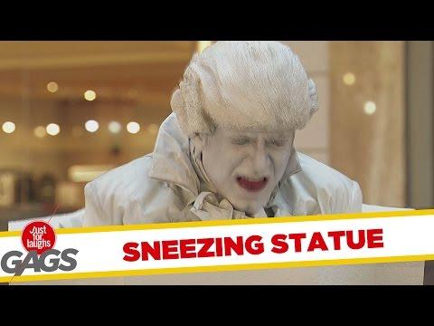 Sneezing Statue Prank